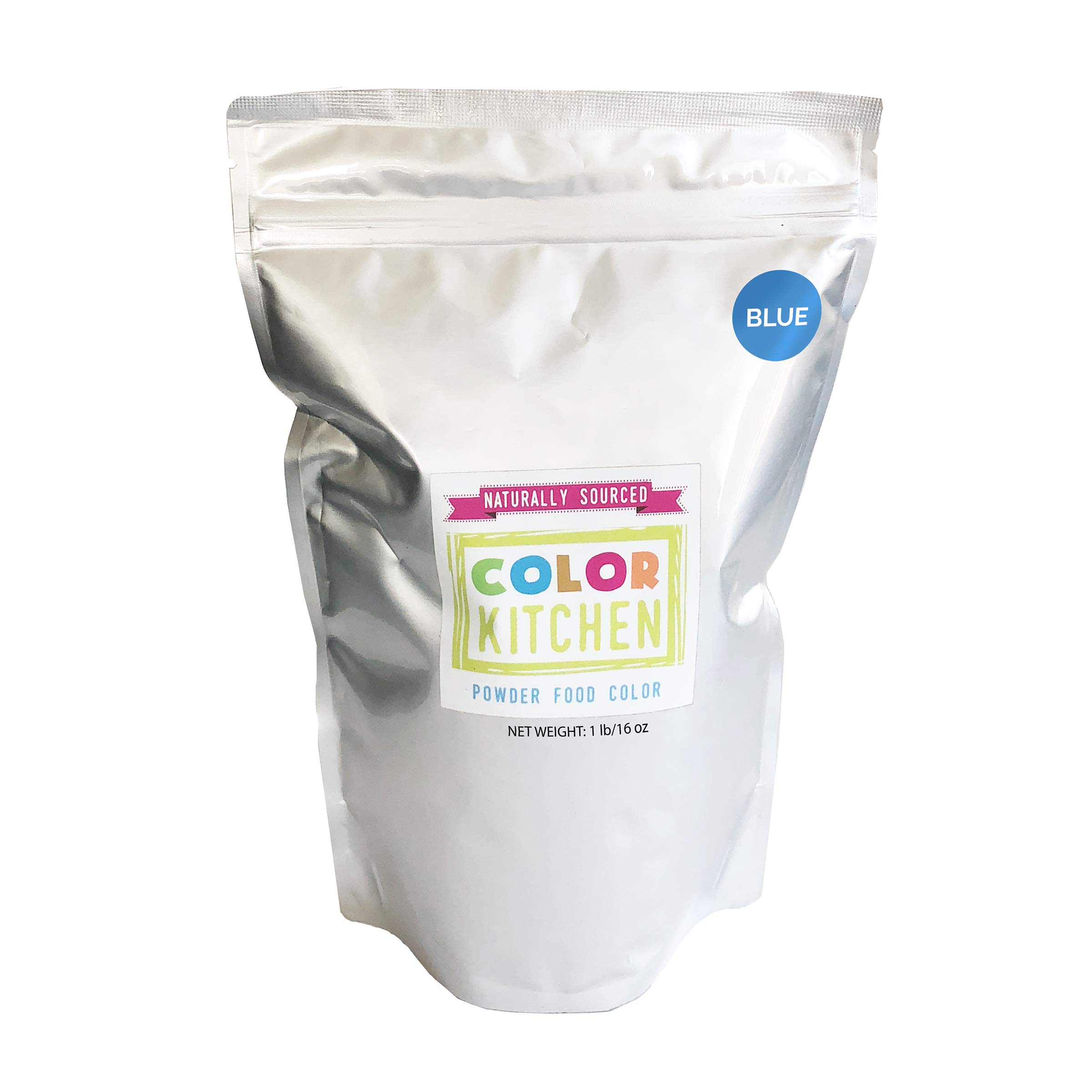 ColorKitchen Blue Food Coloring Powder (1lb Bulk Bag) - All Natural with No Artificial Dyes by ColorKitchen (Image #1)