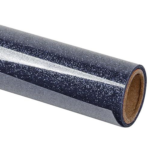 RUSPEPA Brillo De Transferencia De Calor Vinyl -Glitter Flake Design Ideal para Camisetas, Bolsas De Lona para Prendas De Vestir Y Otras Telas-30.48 * ...