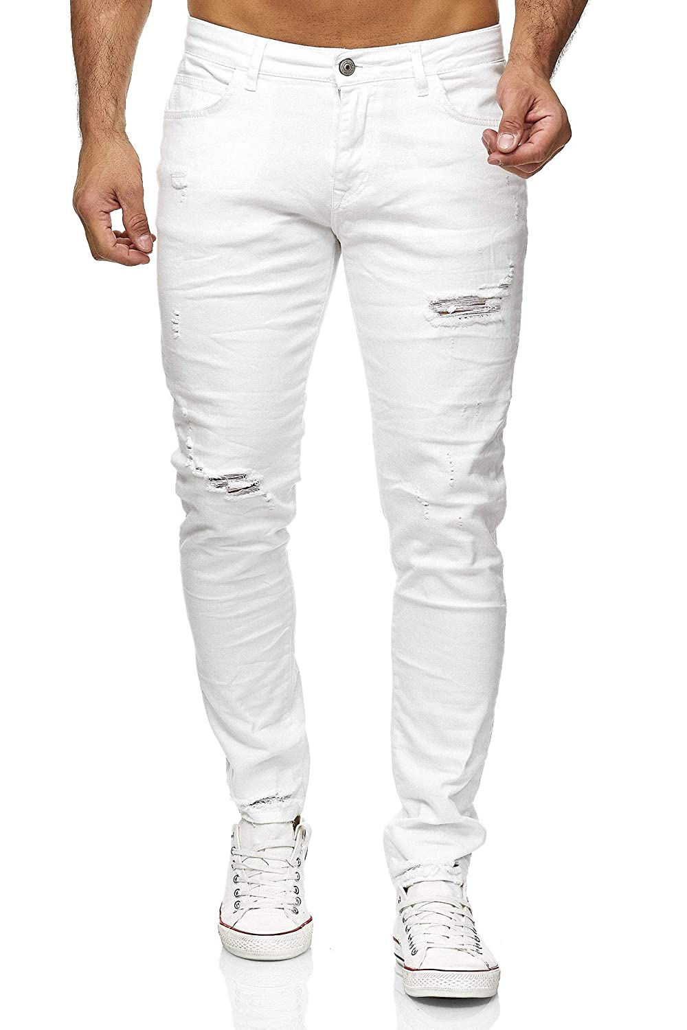 Red Bridge Herren Jeans Hose Slim Fit Röhrenjeans Denim Destroyed M4235