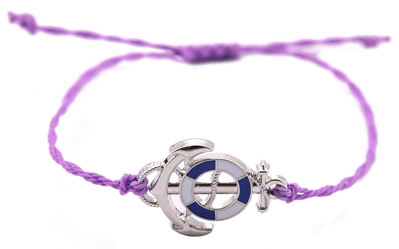 Teamer Cordon de Cire Bracelet Drip Ancre Charm Bijoux pour Femme/Homme Meilleur Cadeau Qiju