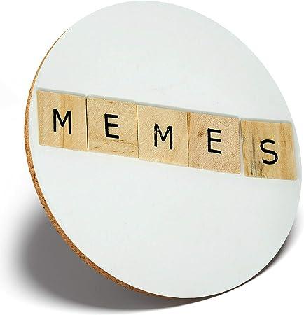 1 x Memes Scrabble Letra de madera – Posavasos redondo Cocina Estudiante Niños Regalo # 14544: Amazon.es: Hogar