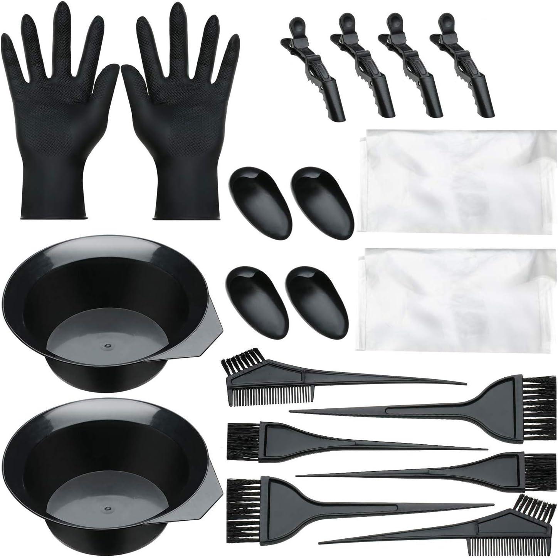 Anself 20pcs Kit de Coloración para Cabello Kit de tinte para el cabello kit tinte pelo,brocha para tinte,brocha tinte pelo,pincel para tinte pelo
