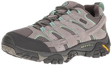 Merrell Women's Moab 2 Waterproof Hiking Shoe, Drizzle/Mint, ...