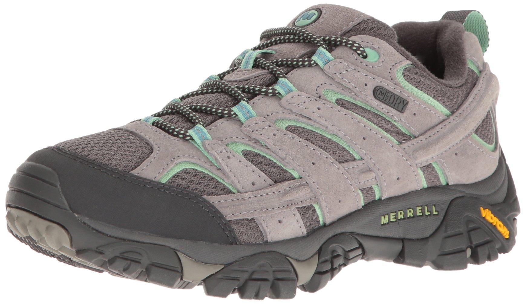 Merrell Women's Moab 2 Waterproof Hiking Shoe, Drizzle/Mint, 8.5 W US