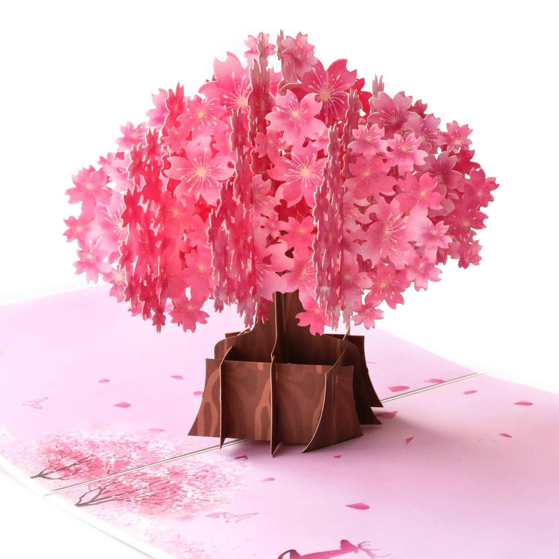 Paper Spiritz Cherry Blossom Pop Up Card Sakura Cards Mother S Day Card Spring Card Tree Card