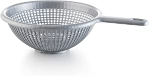 YBM Home 8.5 Inch Plastic Strainer Colander with Long Handle – Made of Food Safe BPA-Free Plastic - Use for Pasta, Noodles, Spaghetti, Vegetables and More 31-1129-gray (1, Gray)