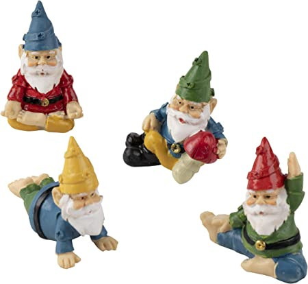 Indoor or Outdoor Lawn Statues Harbor 55 Garden Gnome Set of 3 Miniature Workers 4 Inches Tall Accessories