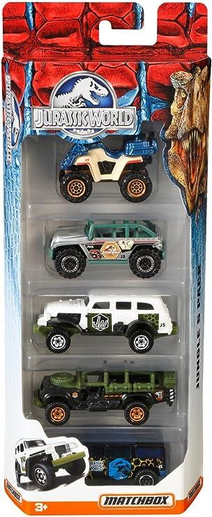 Matchbox Jurassic World 1:64 Vehículo 5-Pack (Los Estilos Pueden Variar): Amazon.es: Juguetes y juegos