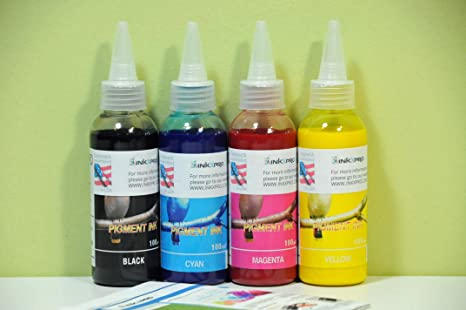 INKXPRO Brand 4 X 100ml Hi Quality Pigment Ink refills for Epson Workforce  7010 7510 7520 3540 3520 3620 3640 7610 7620 printer