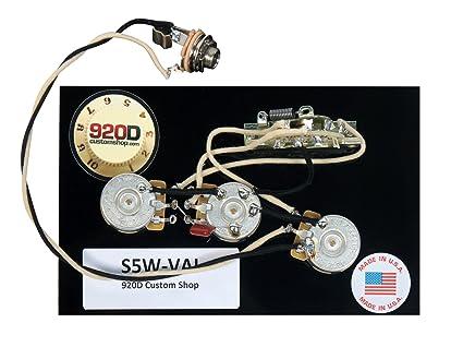 amazon com 920d strat stratocaster hsh vai style 5 way wiring rh amazon com