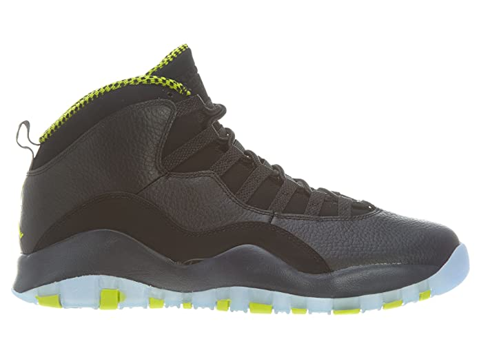 detailed look 70051 c8a0d Amazon.com   Air Jordan Retro 10 Mens Style  310805-033 Size  9.5 Black Vnm  Green-Cl Gry-Anthrct   Fashion Sneakers
