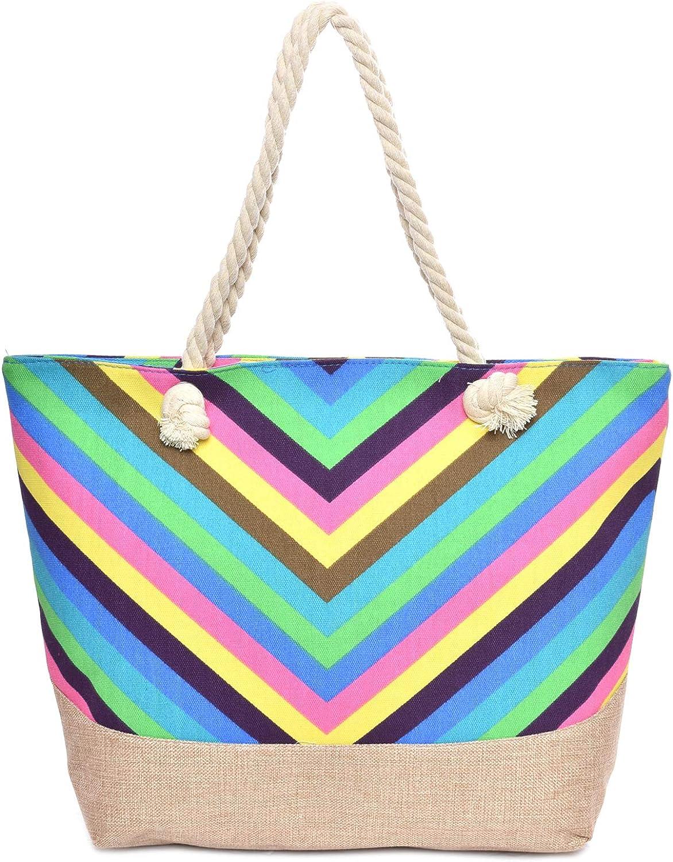 Stripe Pattern Tote Bag