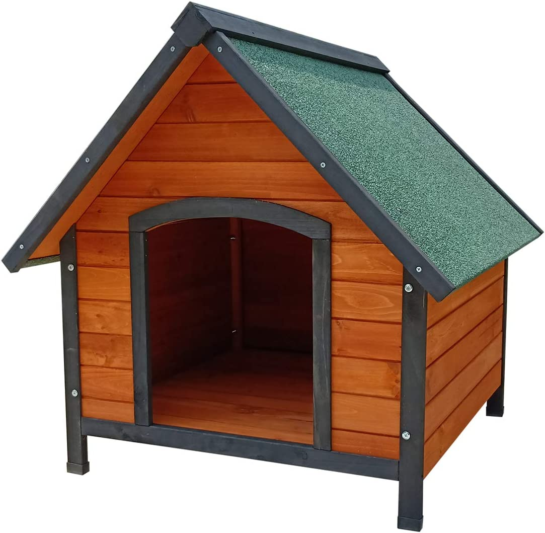 Gardiun KNH1210 - Caseta de perro de madera Sweet a 2 aguas 72x76x76 cm