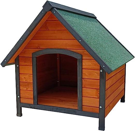 Gardiun KNH1230 - Caseta de Perro de madera Loki a 2 aguas 82x99x86 cm: Amazon.es: Jardín