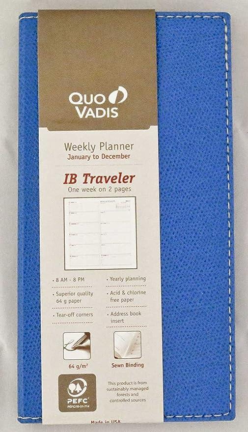 Amazon.com : Quo Vadis Ib Traveler 2019 Pocket Weekly ...