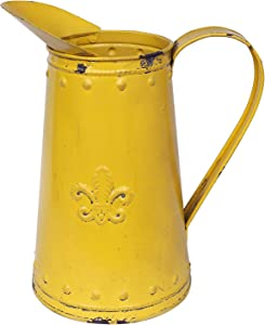Yoillione Farmhouse Pitcher Vase Rustic Outdoor Decor, Country Vases Decorative Metal Vase for Flowers, Vintage Milk Jug Country Items for Kitchen, Plant Pots Outdoor Farmhouse Decor for The Home