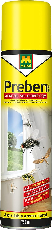 Masso Preben 231129N - Insecticida spray para todo tipo de insectos voladores, 750 ml.