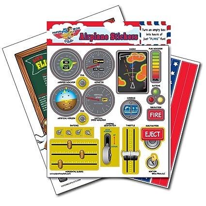 Buy Paper Box Pilots - Cardboard Box Airplane Stickers