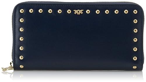 Pinko Alchisi Wallet Zip Around L Vitello Seta 3918ec9535b
