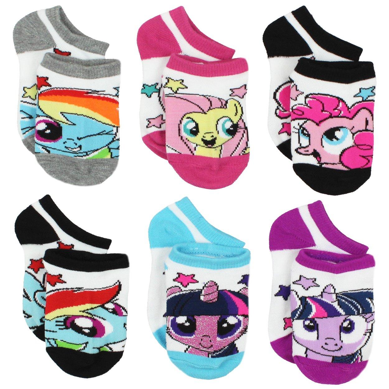 My Little Pony Girls 6 pack Socks (Toddler/Little Kid/Big Kid/Teen)