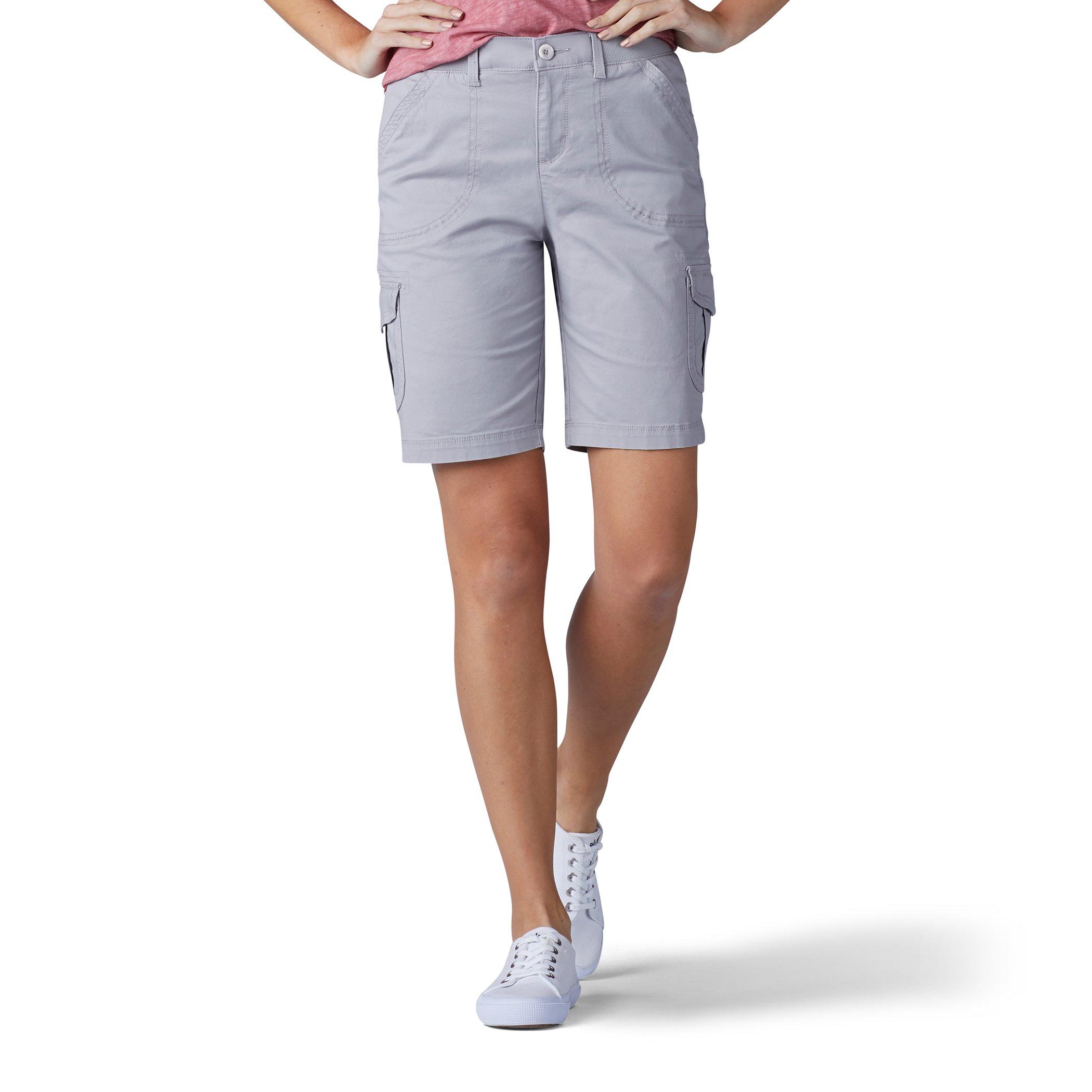 LEE Women's Relaxed Fit Diani Knit Waist Bermuda Short, Alloy, 16