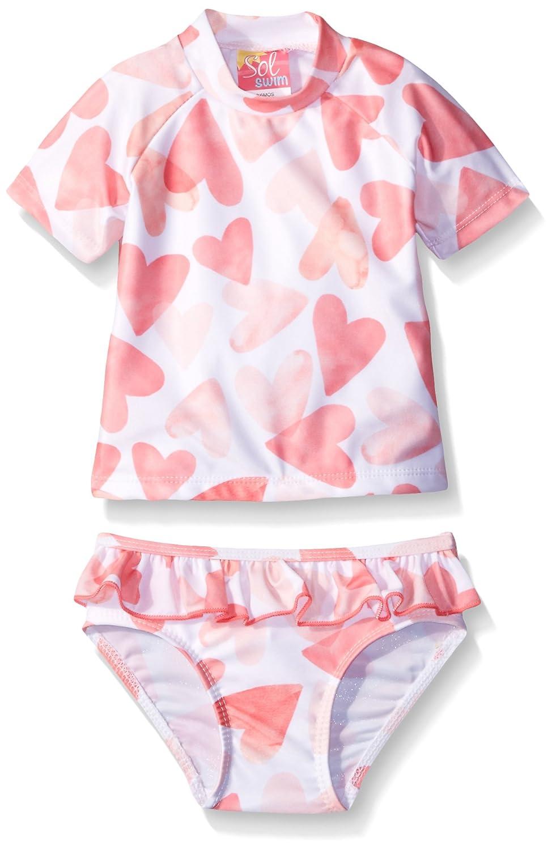 Sol Swim Baby Girls Lots of Love Rash Guard Set Solo International Inc Baby GS0-297
