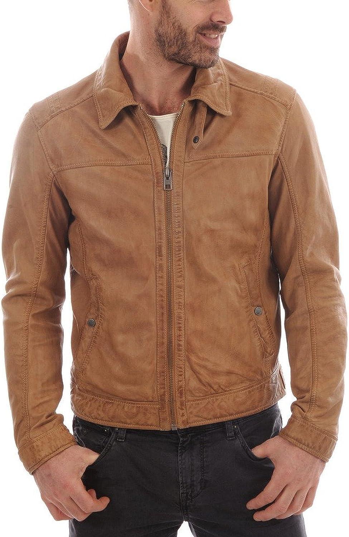 New Mens Leather Jacket Slim Fit Biker Motorcycle Genuine Lambskin Jacket T655
