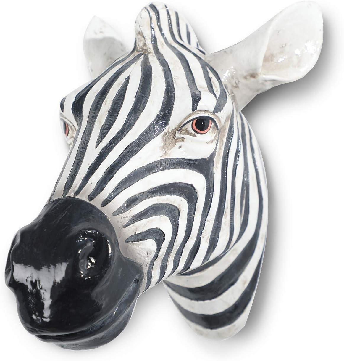 Polyresin faux Zebra head wall hanging, handmade wall charmers for farm house, animal head home & Garden décor