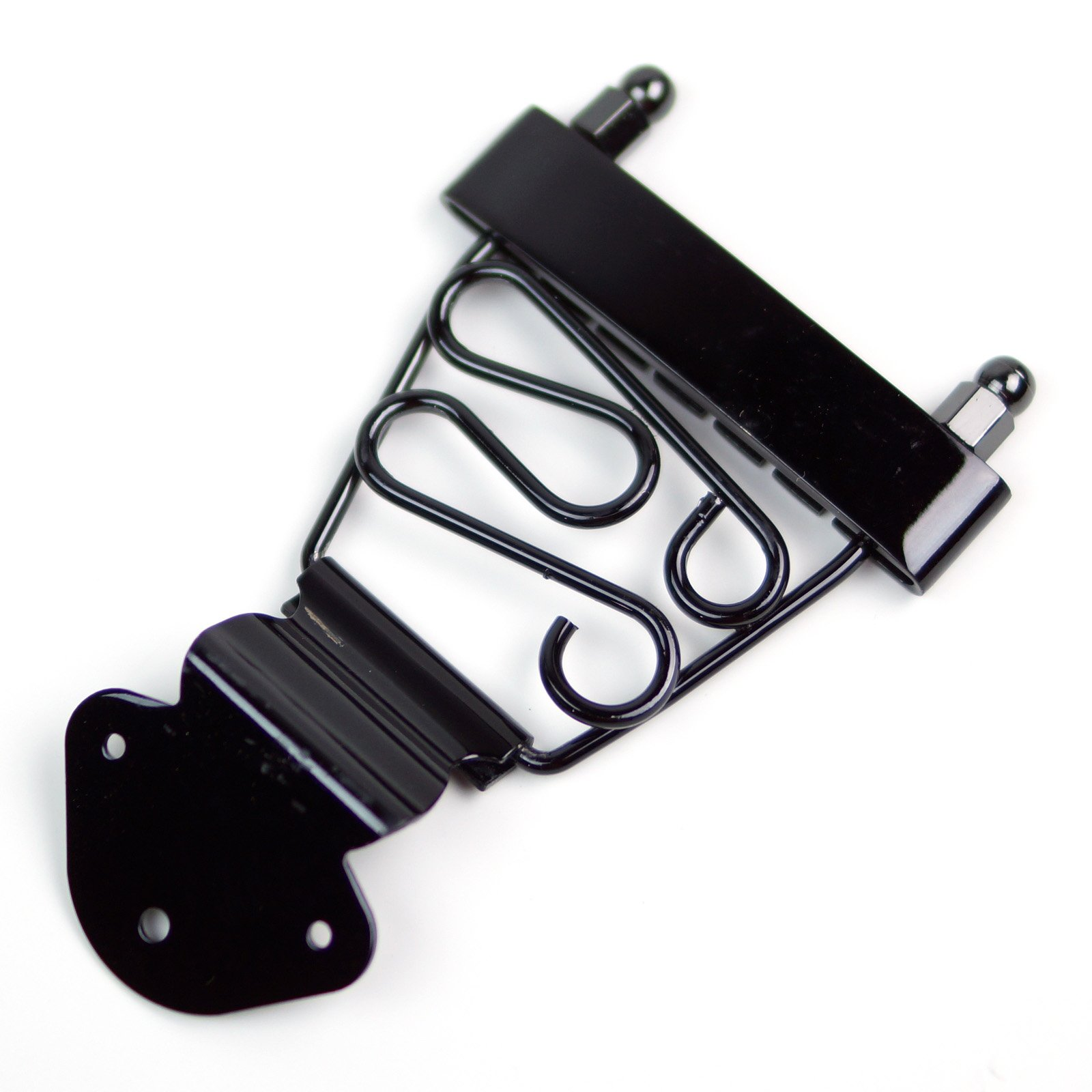 Fancy Trapeze Tailpiece For Hollow body Archtop Jazz Guitar ,Black (Short)