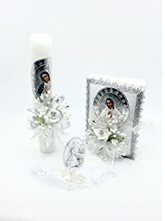 Amazon.com : First Holy Communion Organza Flowers/Embossed ...