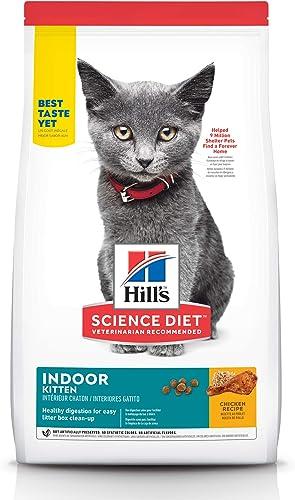 Hill s Science Diet Dry Cat Food, Kitten, Indoor, Chicken Recipe