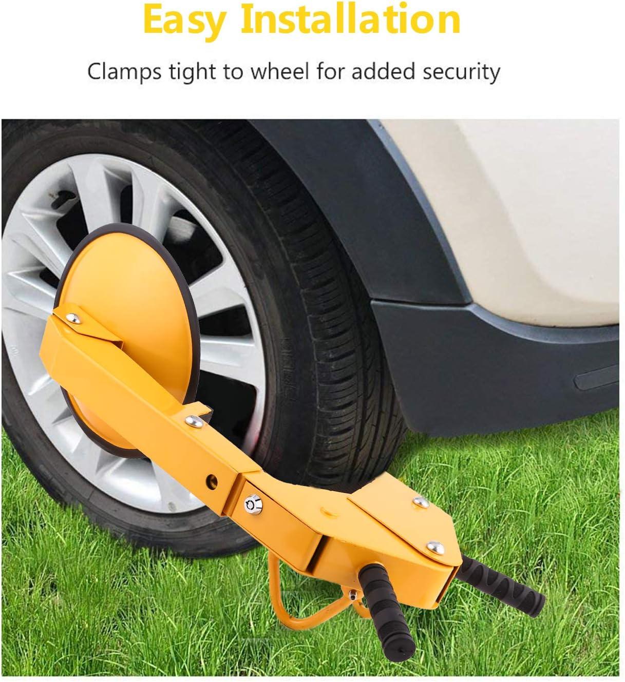 Wheel Lock Caravan And Trailer Boot Tire Trailer for Car Truck Towing 8 Hole DiscountSeller 2 x Heavy Duty Car//Van Wheel Anti-Theft Security Clamp