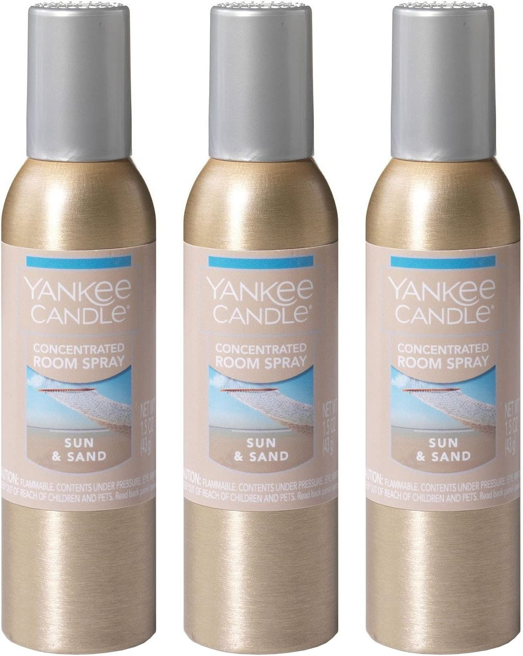 Yankee Candle Concentrated Room Spray 3-Pack (Sun & Sand)