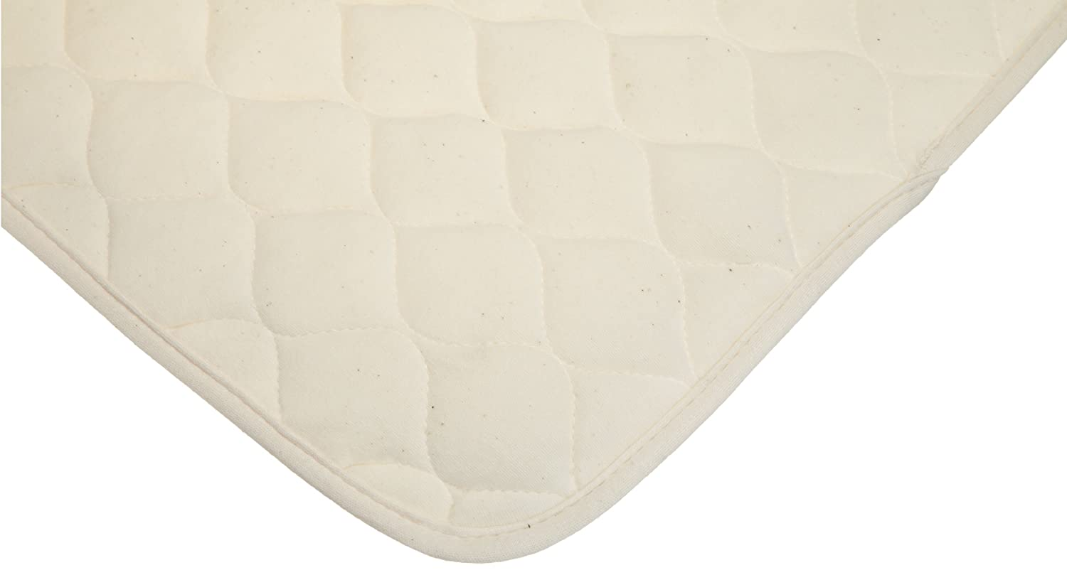 American Baby Company Waterproof Quilted Lap and Burp Pad Cover made with Organic Cotton, Natural Color, 2 Pack - Vinyl Free