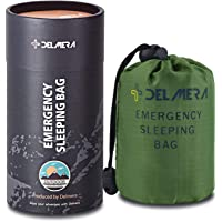Delmera Emergency Sleeping Bag, Lightweight Survival Sleeping Bags Waterproof Thermal Emergency Blanket, Bivy Sack…