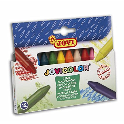Amazon.com: ESTUCHE 12 CERAS COLORES JOVICOLOR: Office Products