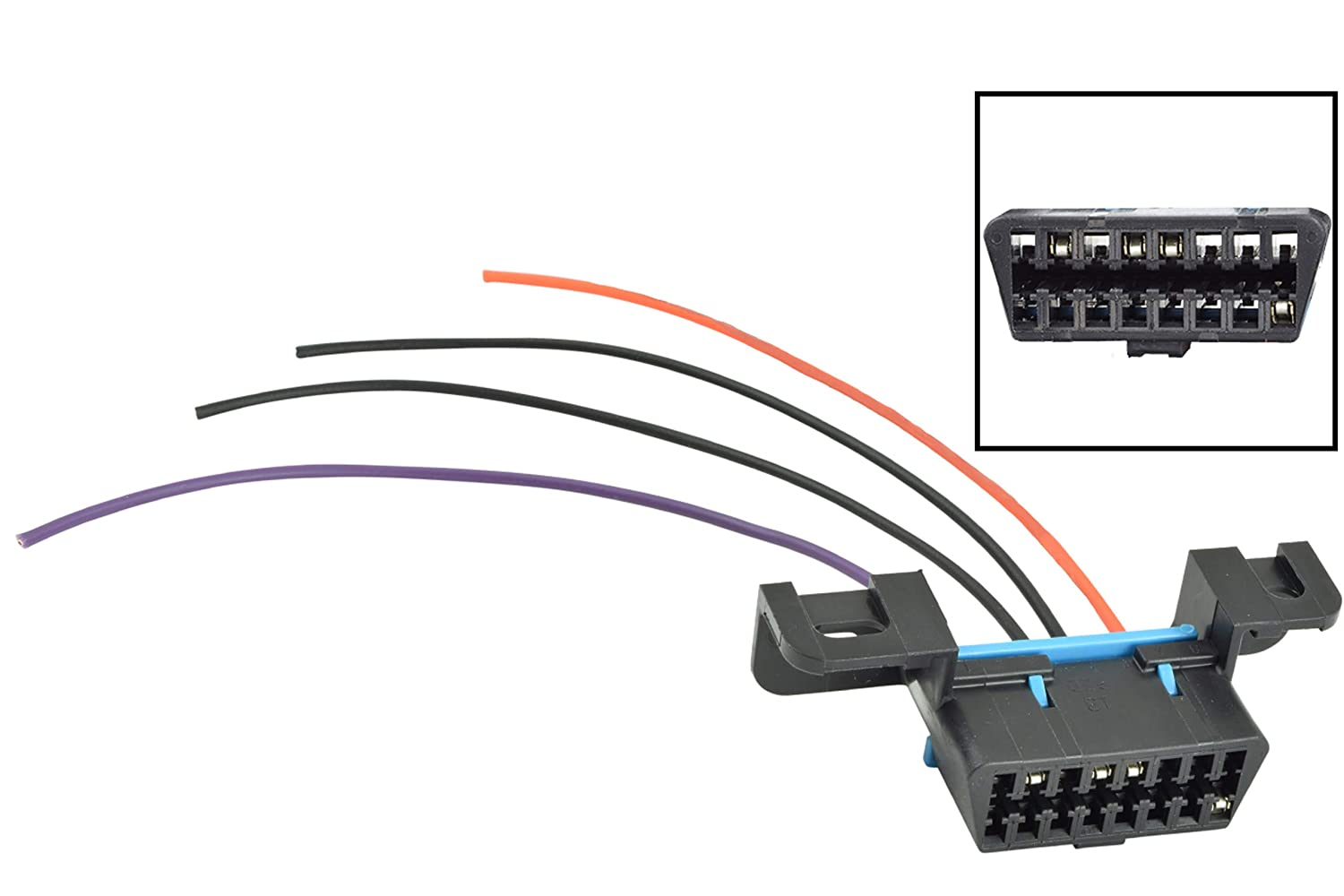 ICT Billet GM LS OBD2 Dash Diagnostic Port 4-Wire Harness Connector on wire nut, wire cap, wire antenna, wire leads, wire sleeve, wire lamp, wire clothing, wire connector, wire holder, wire ball,