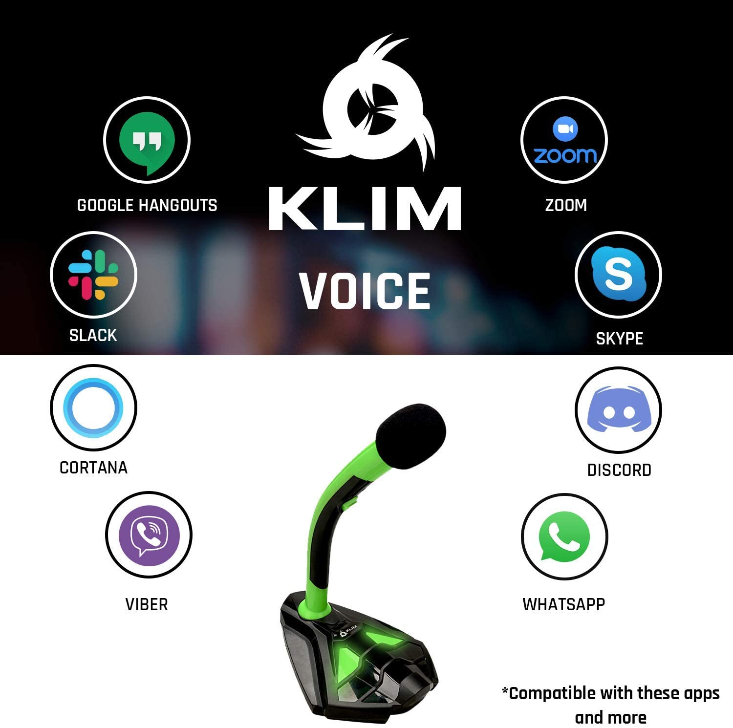 Professional Desktop Mic with Stand Gaming KLIM Talk Streaming Mac White USB Desk Microphone for Computer Compatible with Any PC Laptop YouTube PS4 Podcast Mics Recording