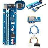 ELEGIANT USB 3.0 PCI-E Express 1x zu 16x Extender Riser Card Adapter Power Kable Mining