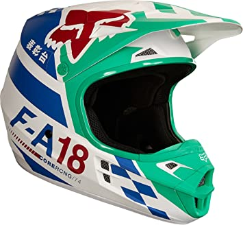 Fox Helmet V de 1 sayak, Green, Tamaño XL