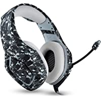 Black Game Headset Camouflage Design Stereo Music Gaming Headphone With Mic Over-Ear Headphone for PS4 for XBOX ONE