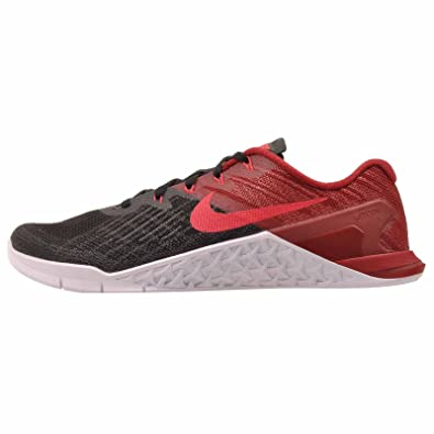 NIKE Men's Metcon 3, Black/Siren Red - Team Red - White, 6