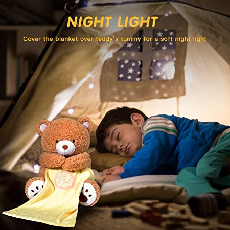 Nursery Decor Night Light Projector BEREST A11 Baby Sleep Soother Bear Lullabies /& Shusher White Noise Machine Sound Soother Toddler Crib Sleep Aid Baby Shower Gifts Portable Teddy Bear Toy