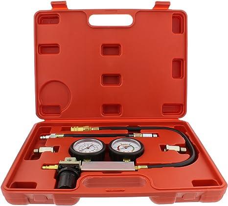 Fuel Pressure Testers,4Pcs Cylinder Leak Tester Petrol Engine Compression Leakage Leakdown Detector TU-21