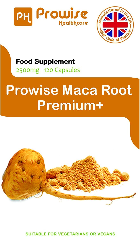 Maca Root 2500mg 120 Cápsulas - Suplemento de Maca Macaronico de Alta Resistencia Vegana - Reino Unido Fabricado Para GMP e ISO 9001 Garantía de Calidad: ...