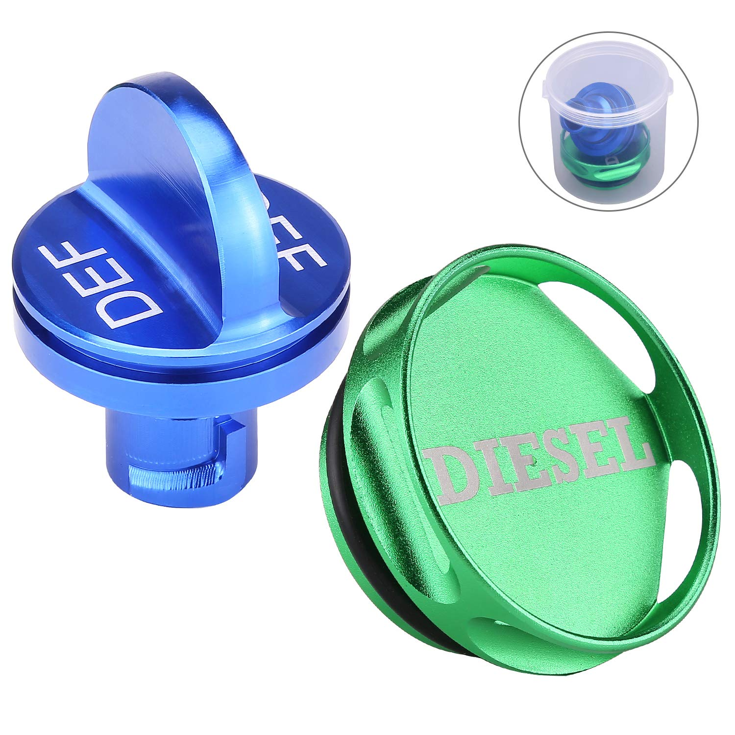Combo Pack Magnetic Diesel Fuel Cap + DEF Cap Accessory for Dodge RAM Truck  1500 2500 3500 (2013-2018) with 6.7 CUMMINS EcoDiesel 5b074f77071