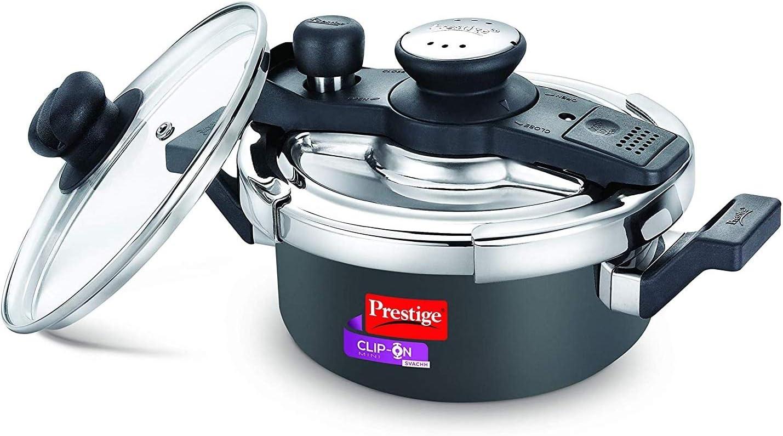 Prestige Svachh Clip-on Mini Hard Anodized 2 Litre Pressure Cooker