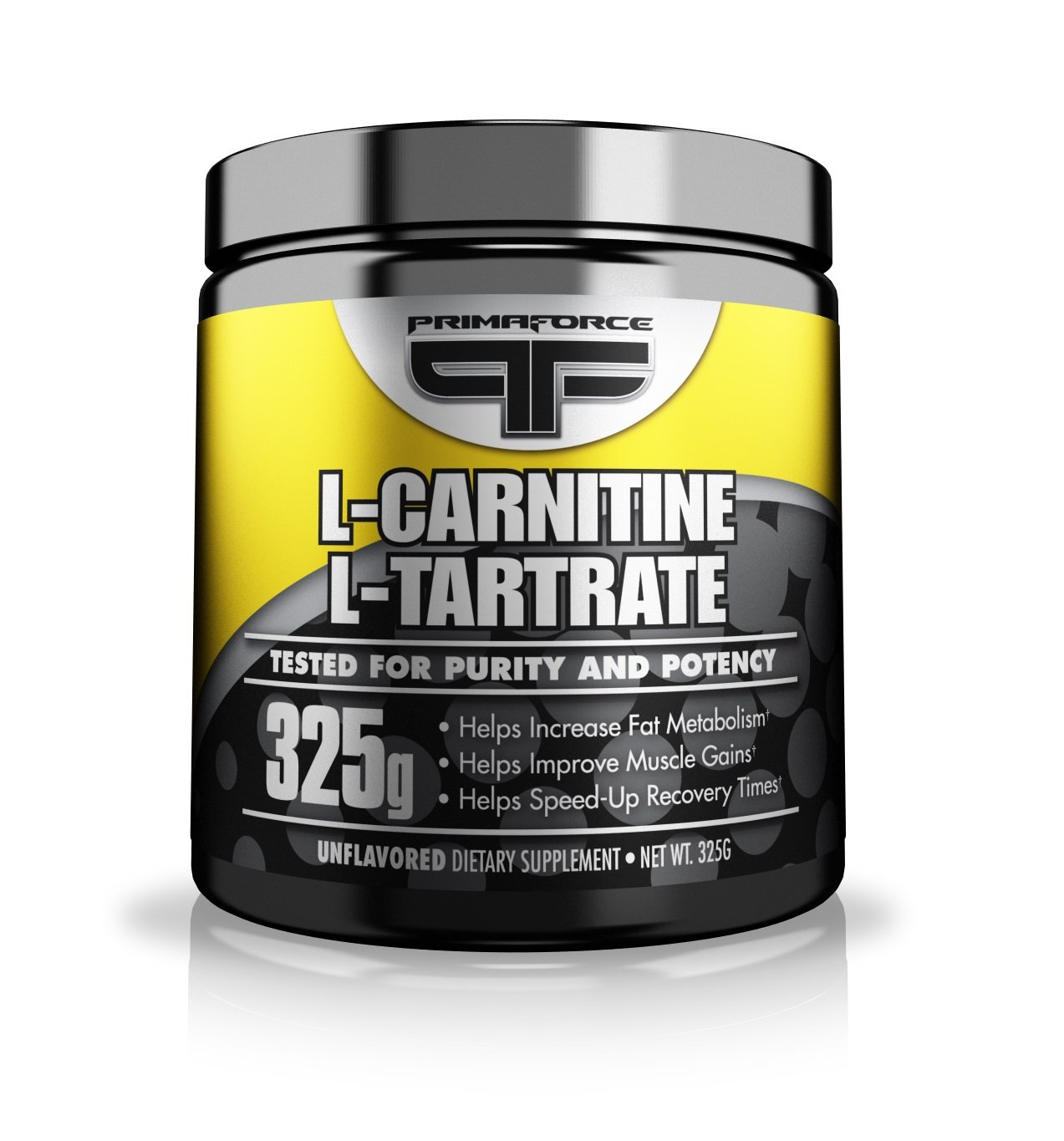 PrimaForce L-Carnitine L-Tartrate Powder Supplement - Enhances Workout Performance / Promotes Fat Burning / Speeds Workout Recovery - 325 Grams