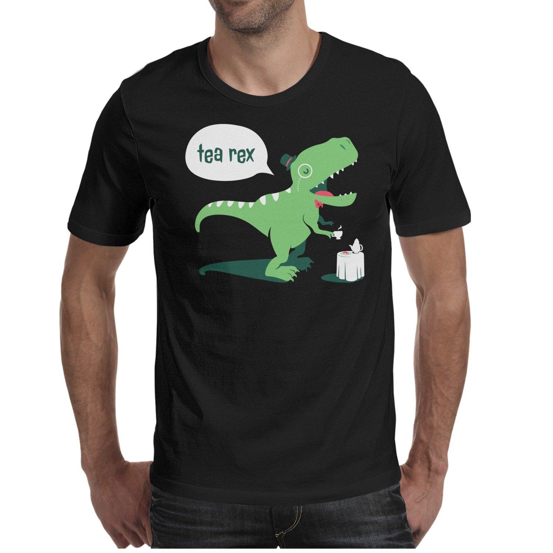 3e6d027078c Amazon.com: Men's T Shirts Tea-Rex Funny Dinosaur Coffee Mug Fashion ...