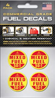Mixed Fuel Only Sticker mix 2 stroke gas leaf blower vinyl decal tank jug bottle